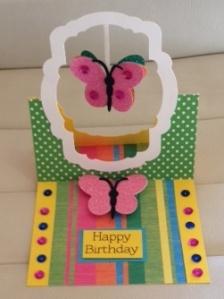 Birthday card flying easel