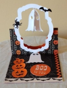 Halloween Flying Easel card 1
