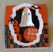 Halloween Flying Easel card 2