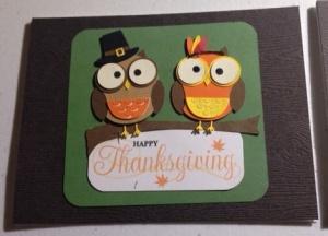 Thanksgiving card single