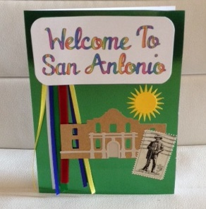 Welcome to San Antonio card