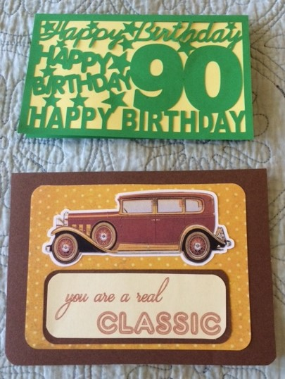 My Grandmothers Younger Brother And His Wife Both Turned 90 Years Old This Year I Made These Cards For Them