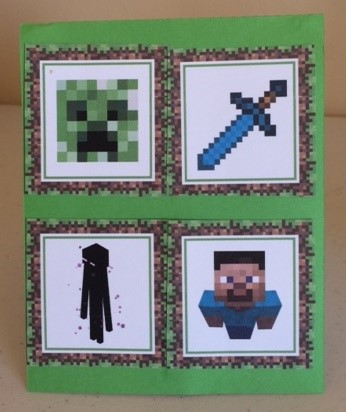 Minecraft birthday card alamo paper crafts for my nieces 9th birthday i made her a minecraft themed birthday card the pop up birthday card design is from the silhouette design store m4hsunfo