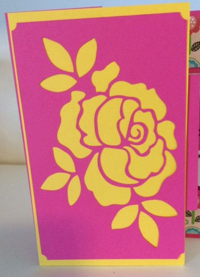 Thinking of you flower card front