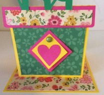 flower pot card close up