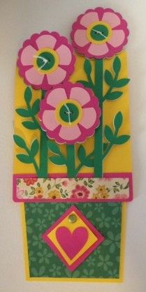 flower pot card folded