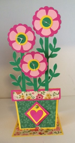 flower pot card front