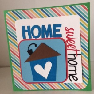 home sweet home card stripes