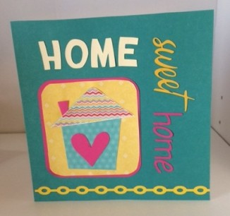 home sweet home card teal