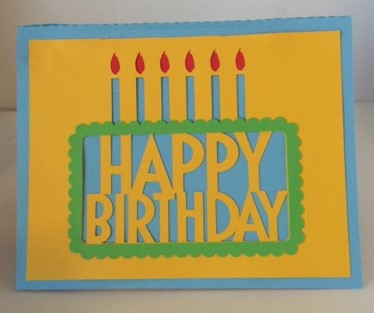 birthday pop-up card outside