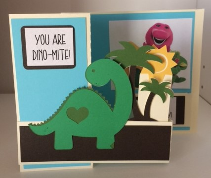 dinosaur card front