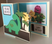 dinosaur card inside